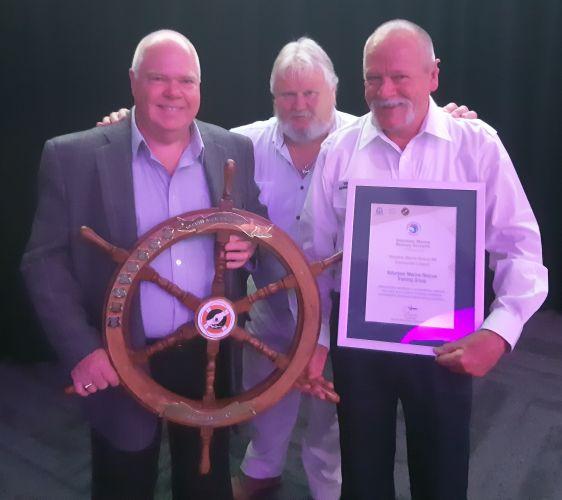 Rockingham Volunteer Sea Rescue Group volunteers Graham Martin, Jeff Howe and Dan Goodlad.