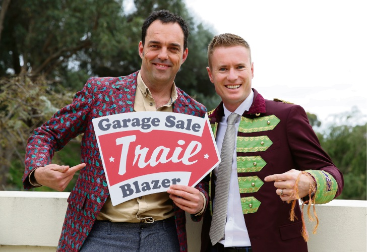 Garage Sale Trail co-founder Andrew Valder and Joondalup Mayor Albert Jacob.