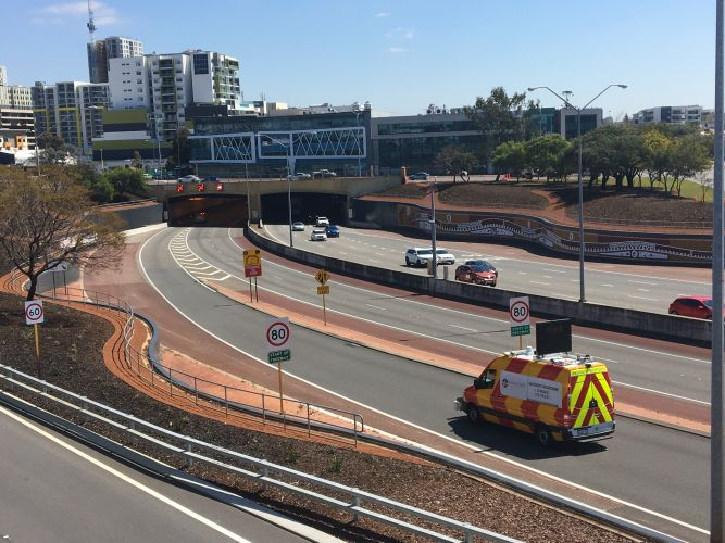 The Northbridge tunnel has been closed. Photo: Matt Zis.