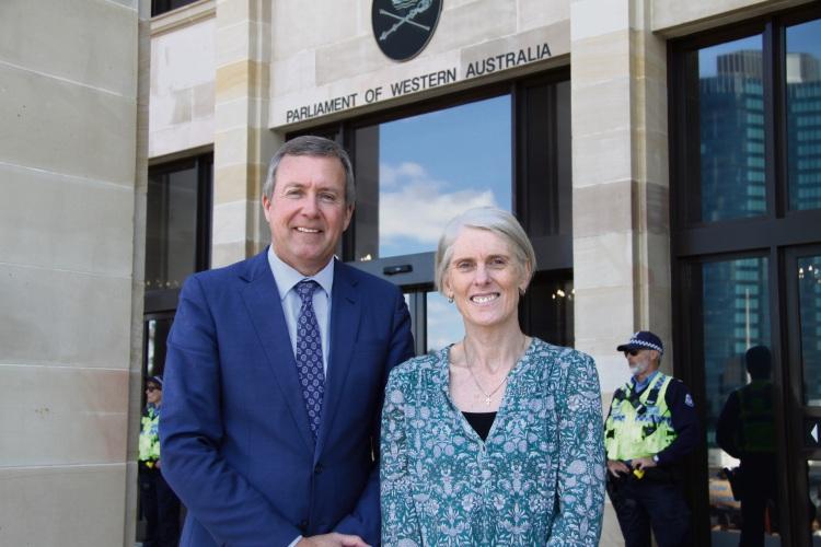 Baldivis MP Reece Whitby with Baldivis Secondary College Associate Principal, Alison Parolo at Parliament House.