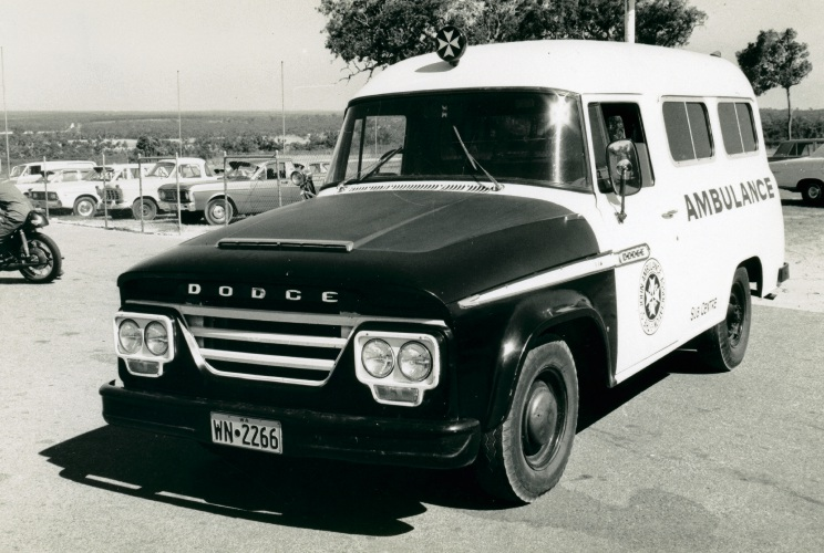 Ambulance vehicle presentation at Wanneroo Park on December 14, 1972. Pictures: Wanneroo Regional Museum.