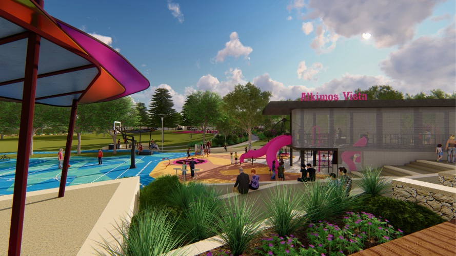 Artist impressions of Picasso Park and playground in Alkimos.
