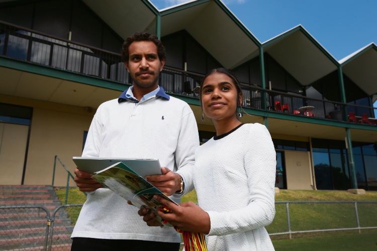 Ethan Kelly-Akee and Tiarna Wynne, two representatives who have completed the Indigenous Trainee Program at City of Fremantle.