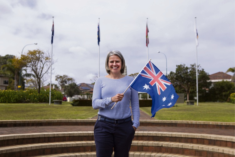 Cindy Bessey is one of 63 residents who made her pledge at a citizenship ceremony in South Perth this month.