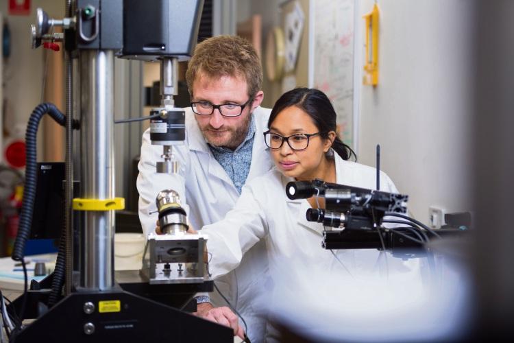 Curtin University biomedical engineer Matthew Oldakowski and Intan Oldakowska were part of the team that claimed the overall award at Curtin University's Curtinnovation Awards.