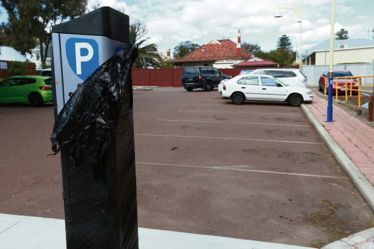 Parking machines of Beaufort Street. Picture: Andrew Ritchie.