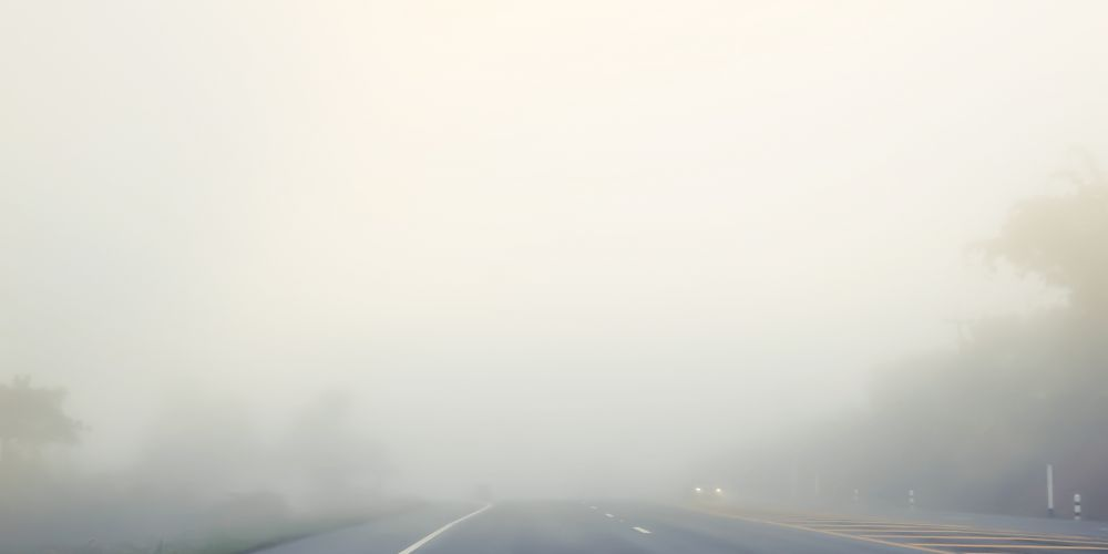 Fog causing reduced visibility on Perth roads