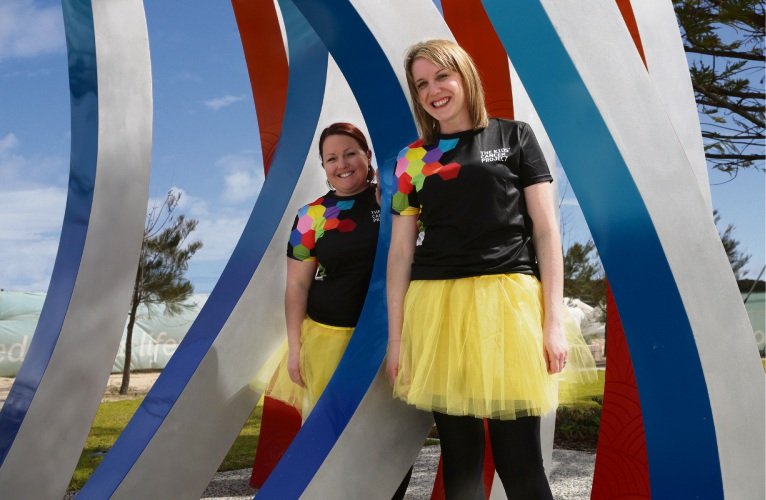 Superhero Day fundraisers Chantel Hooijer and Jane Hunt. Photo: Martin Kennealey