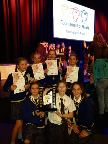 Our Lady of Grace School students after winning the Tournament of Minds WA final.
