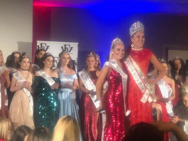 Kiara Taylor (front left) won several titles at Miss Fashion Week Australia.