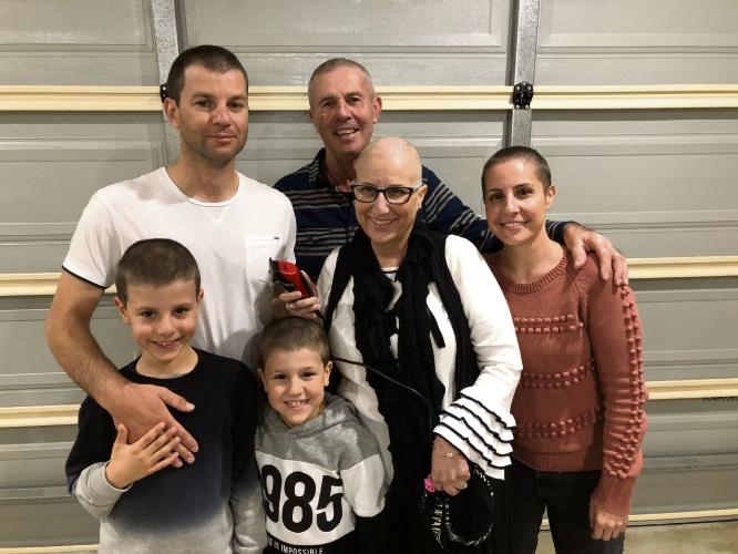 Michael Temov, Nick and Silvana Spadaccini and Melissa Temov with children Levi and Jake.