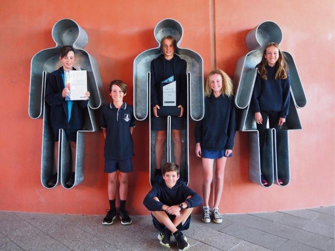 Deanmore Primary School students Kai Gullotto (Year 5), Joel O'Neill, Joseph Hopkyns, Ella Juracich, Holly Taylor and Timmy Hunt (all year 6).