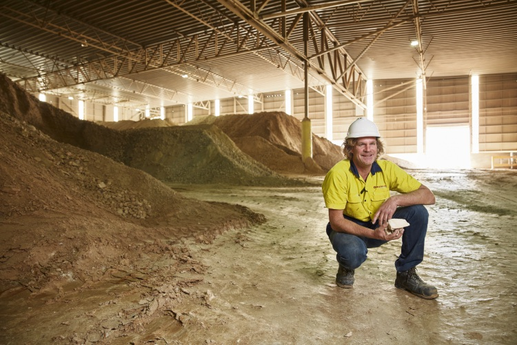 Warrick Palmateer at the Brikmakers' factory in South Guildford. Picture: acorn photo.