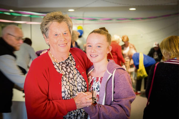Margaret Taylor and her granddaughter Hayley Noblet at last year's Bethanie Beachside show day.