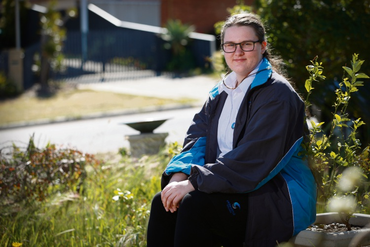 Fremantle College student Alkira Gamble. Picture: Andrew Ritchie.