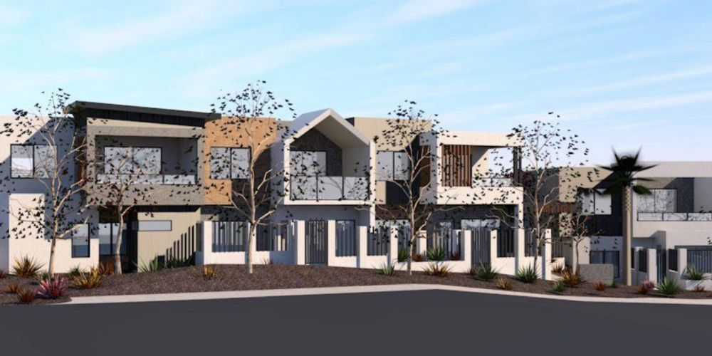 Artist impression of the revised plans for a 14-unit development at 7 and 56 Tuart Trail, Edgewater.
