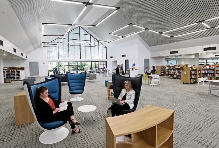 Riverton Library's new look.