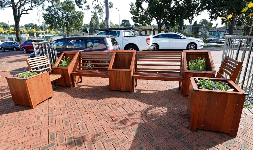 Bayswater mobile parklet. Picture: David Baylis
