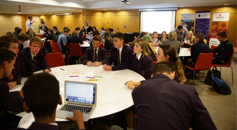 High school students attend the Innovation Institute's think tank in Wanneroo. Picture: Martin Kennealey d486889