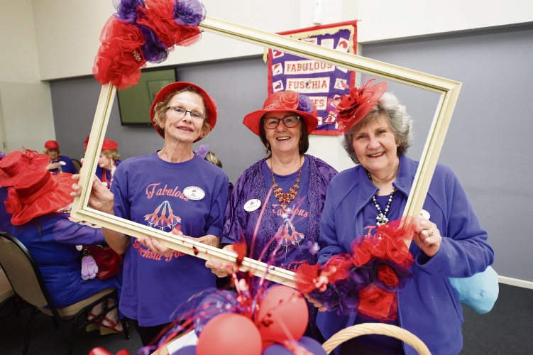 Sue Taylor, Kathleen Lauchlan and Debbie Bastian.