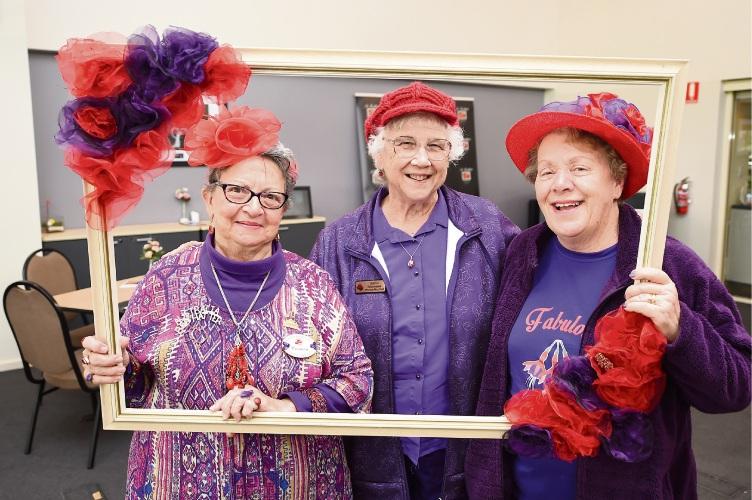 Carmen Morris, Sheila Culverwell and Anna Gunn