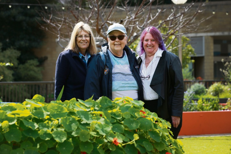 Pam Mulholland, Anne Keehan and Carol Peers are members of the Meet 'n Muse group for lesbian women over the age of 55. Picture: Andrew Ritchie.