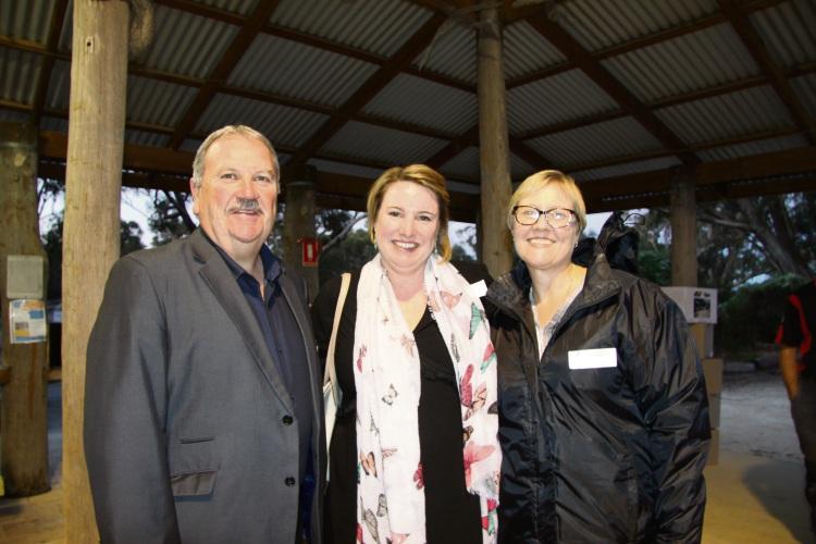 Mayor Barry Sammels, Sarah Blake and Diana White