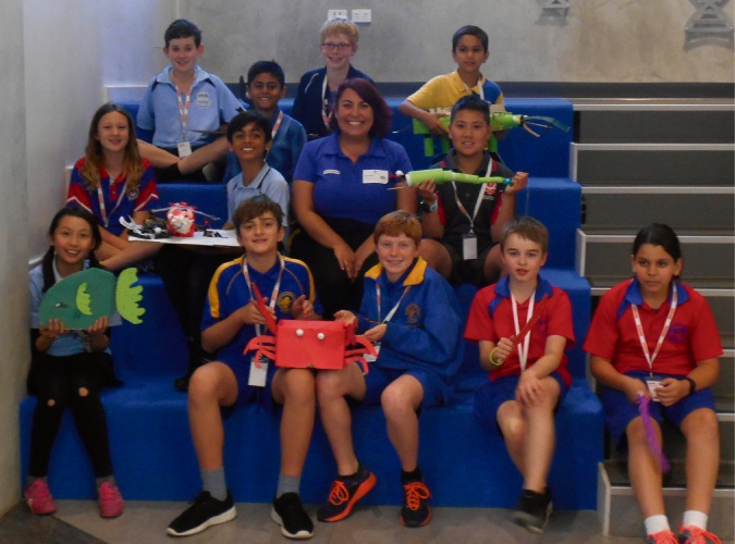 School students who took part in the STEM Club at SciTech.