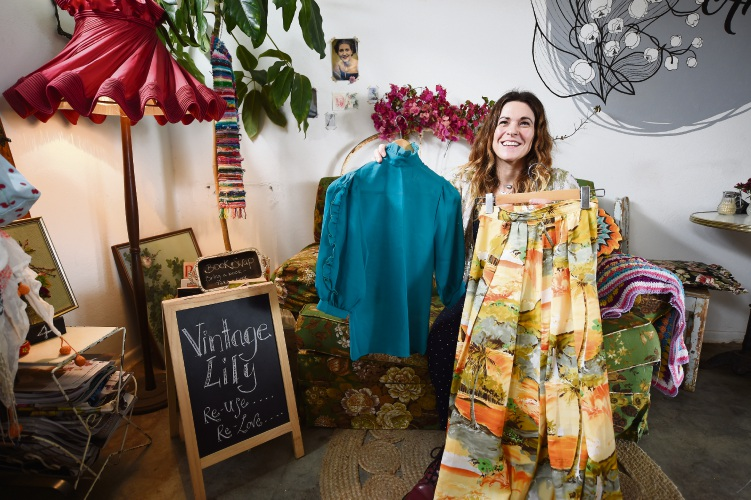 Lily and the Angel owner Kelly Williamson is inviting people to visit them on October 20 as part of the Garage Sale Trail. Picture: Jon Hewson.