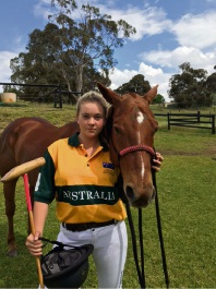 Olivia Bolingbroke (15) will represent Australia in a polo exhibition match at the Youth Olympics in Argentina.