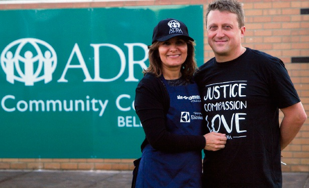ADRA Belmont volunteer and public relations officer Jasmin Stankovic with husband and projects manager Robert Stankovic.