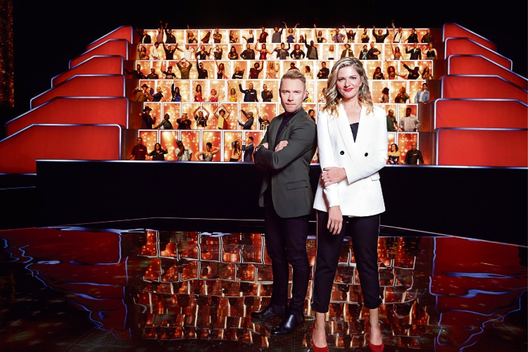 Ronan Keating and Julia Zemiro with the All Together Now 100.