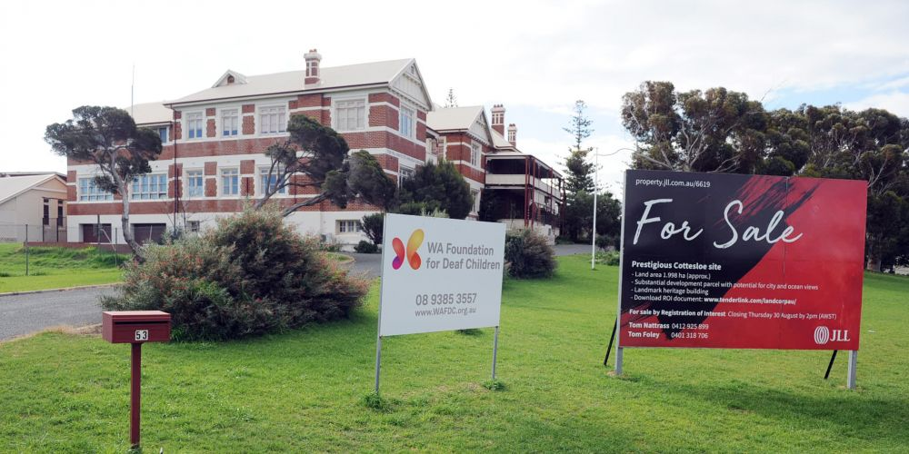 Registrations of interest in purchasing the WA Institute for Deaf Education in Cottesloe closed yesterday.