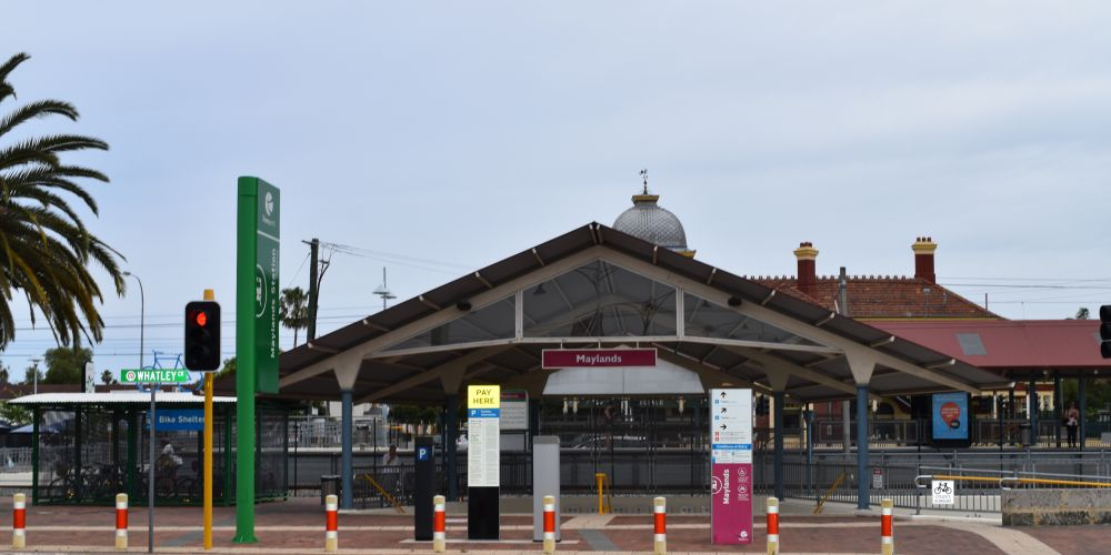 Maylands train station.