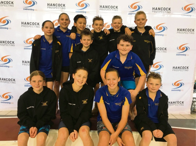 All the medal winners from the Guildford and Kalamunda Districts Swimming Club.