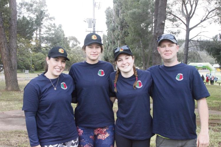 Kalamunda Bush Fire Brigade's Reanne Jackson, Natalie Smailes, Shelley Slee and Bryan Martindale signed up for the Oxfam Trailwalker event.