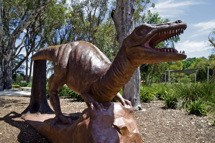 The water playground will be located near the Kingsway Dinosaur Park.