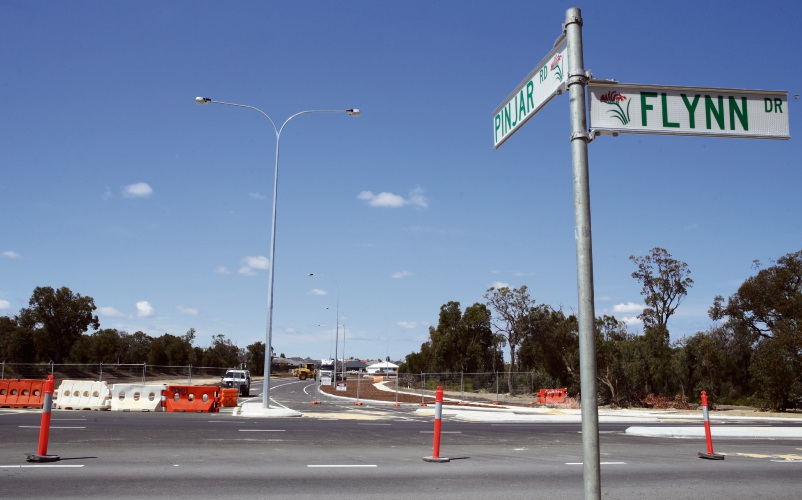 The Pinjar Road-Flynn Drive junction opens this evening. Picture: Martin Kennealey