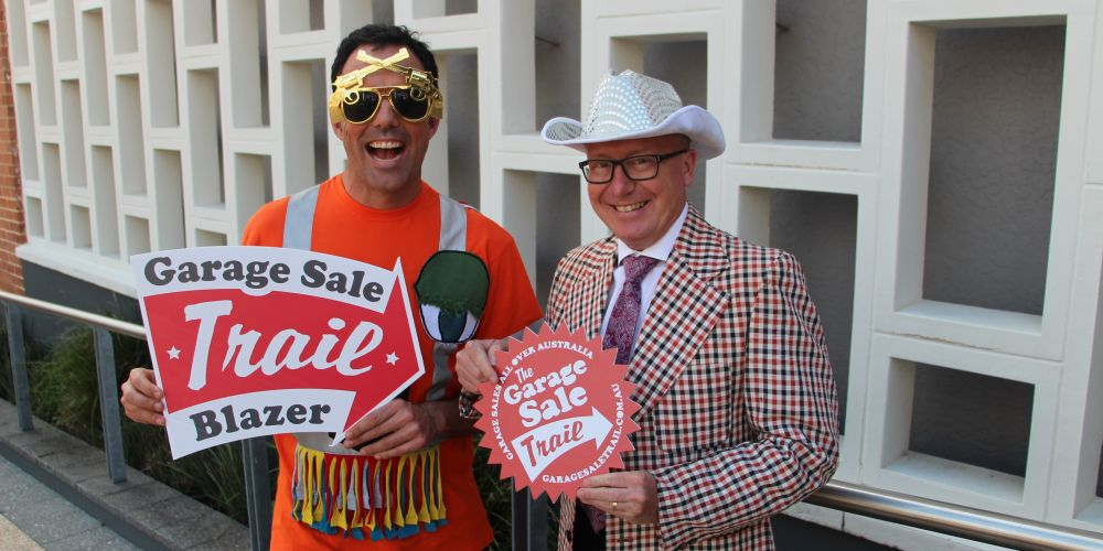 Garage Sale Trail co-founder Andrew Valder with City of South Perth Deputy Mayor Glenn Cridland.