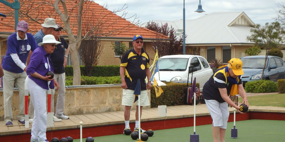 """Kingsway Court's annual """"Foot/Bowls"""" Derby."""