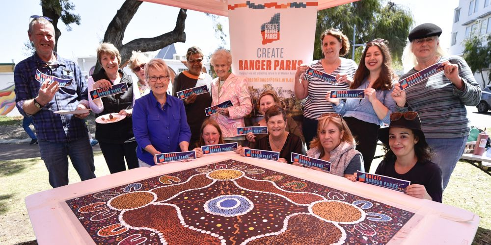 Rockingham residents made a dot painting. Photo by Peter Le Scelle