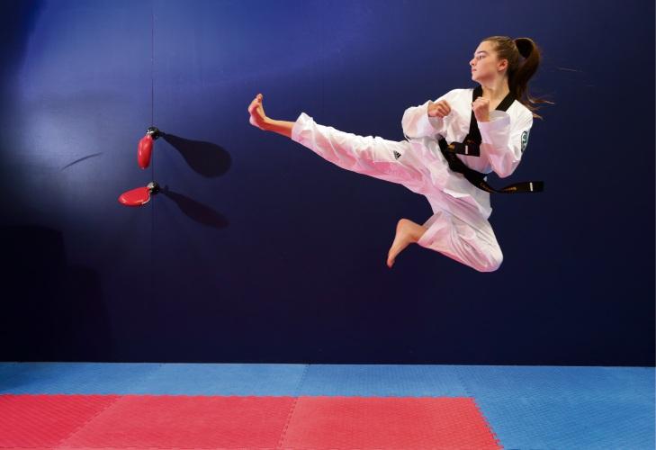 Taekwondo athlete Shante Regnault. Picture: Martin Kennealey www.communitypix.com.au   d487509