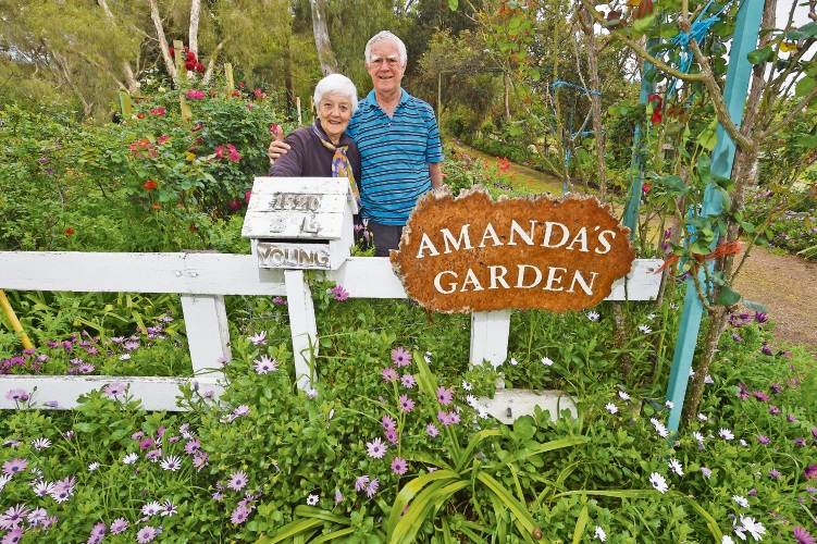 Amanda Young's parents Lorraine and Barry Young will hold a fete at Amanda's Garden in Southern River. Photo: Jon Hewson. d487176 communitypix.com.au