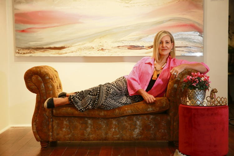 Artist Catherine Christie has opened her gallery in Claremont. Picture: Andrew Ritchie