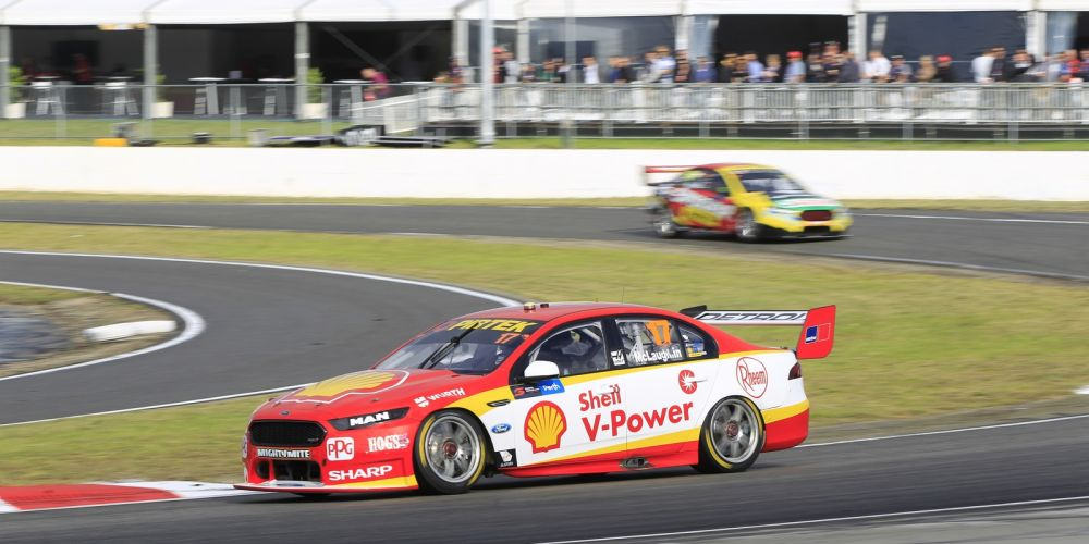 Scott McLaughlin won last year's Supercar round at Barbagallo. Picture: Barnsiesphotos