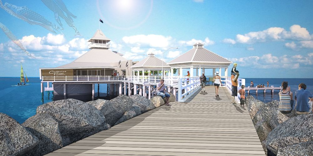 Surfers were against a proposed pier for Cottesloe