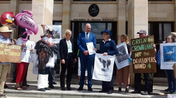 The petition is presented to Bateman MLA Bateman Dean Nalder and Bicton MLA Lisa O'Malley.