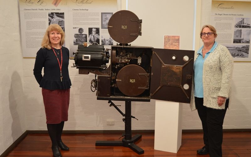 Subiaco Museum museum services co-ordinator Rosemary Fitzgerald with president Agnes Foyster.