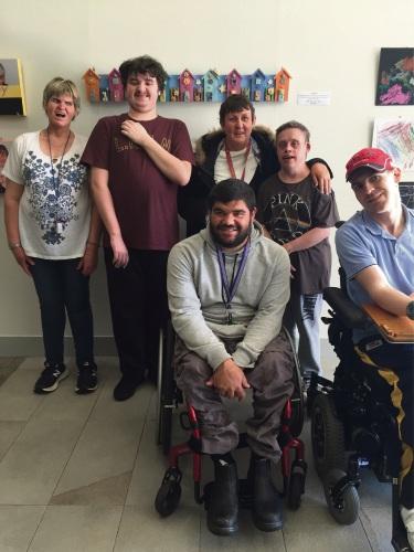 Artists Jodie-Marie Rota, Bradley Watson, Hayley Bracknell, Darren Buckland and (front) Josh Barton and Michael Tillbrook.