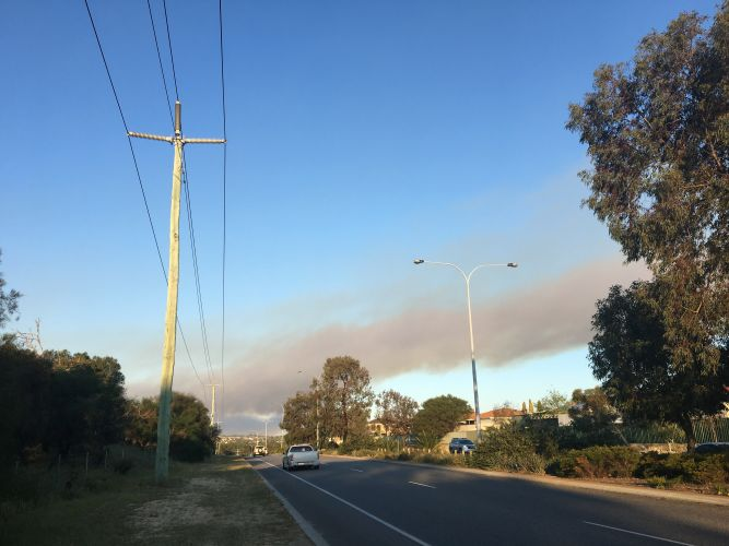 Smoke alert for northern suburbs from Gnangara Pine Plantation burn-off